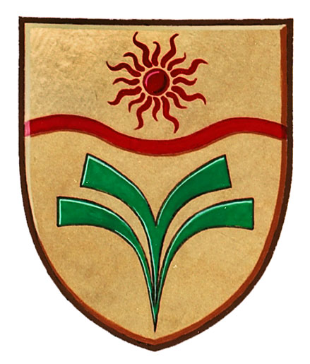 Shield from the Coat of Arms of the Town of Taber, Alberta