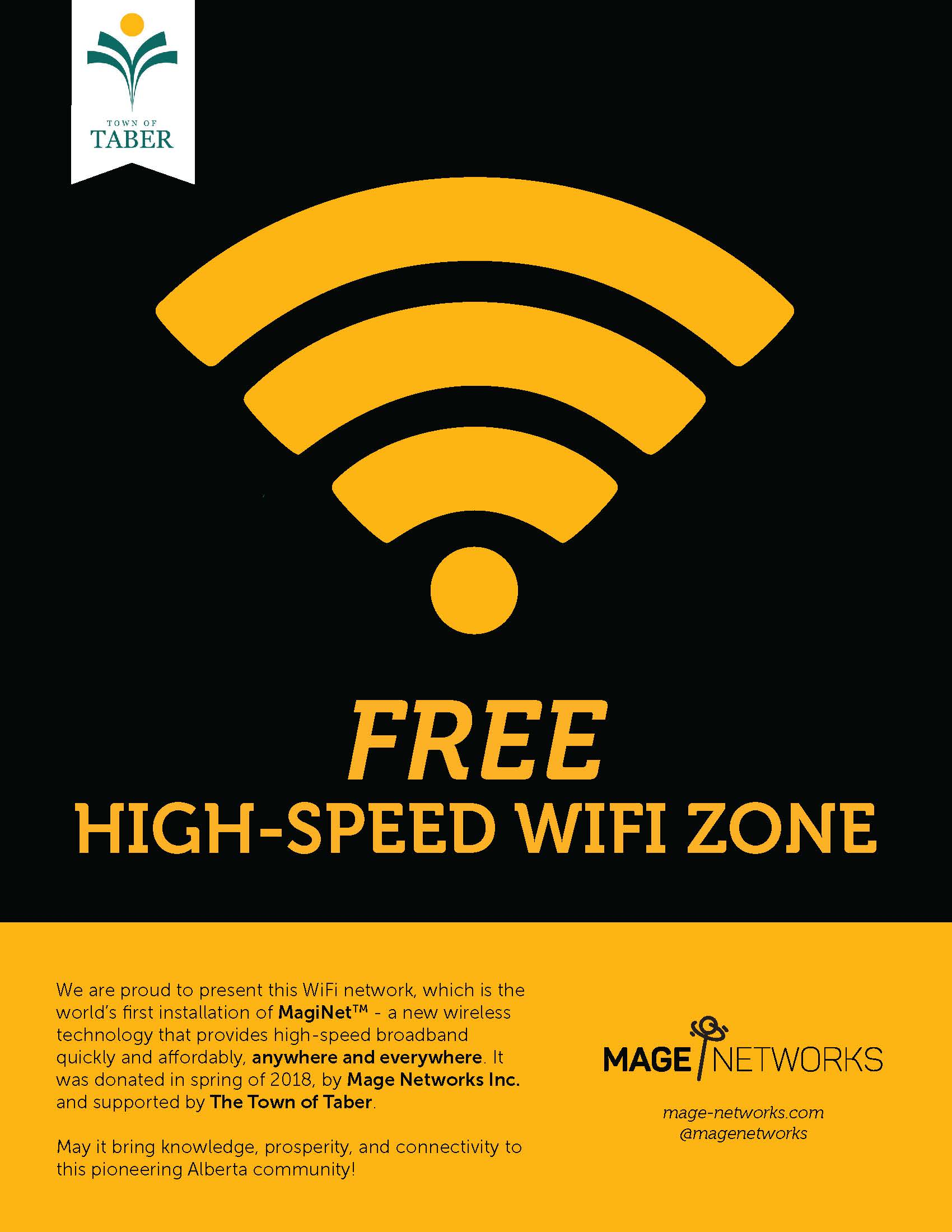 Poster for downtown free wifi