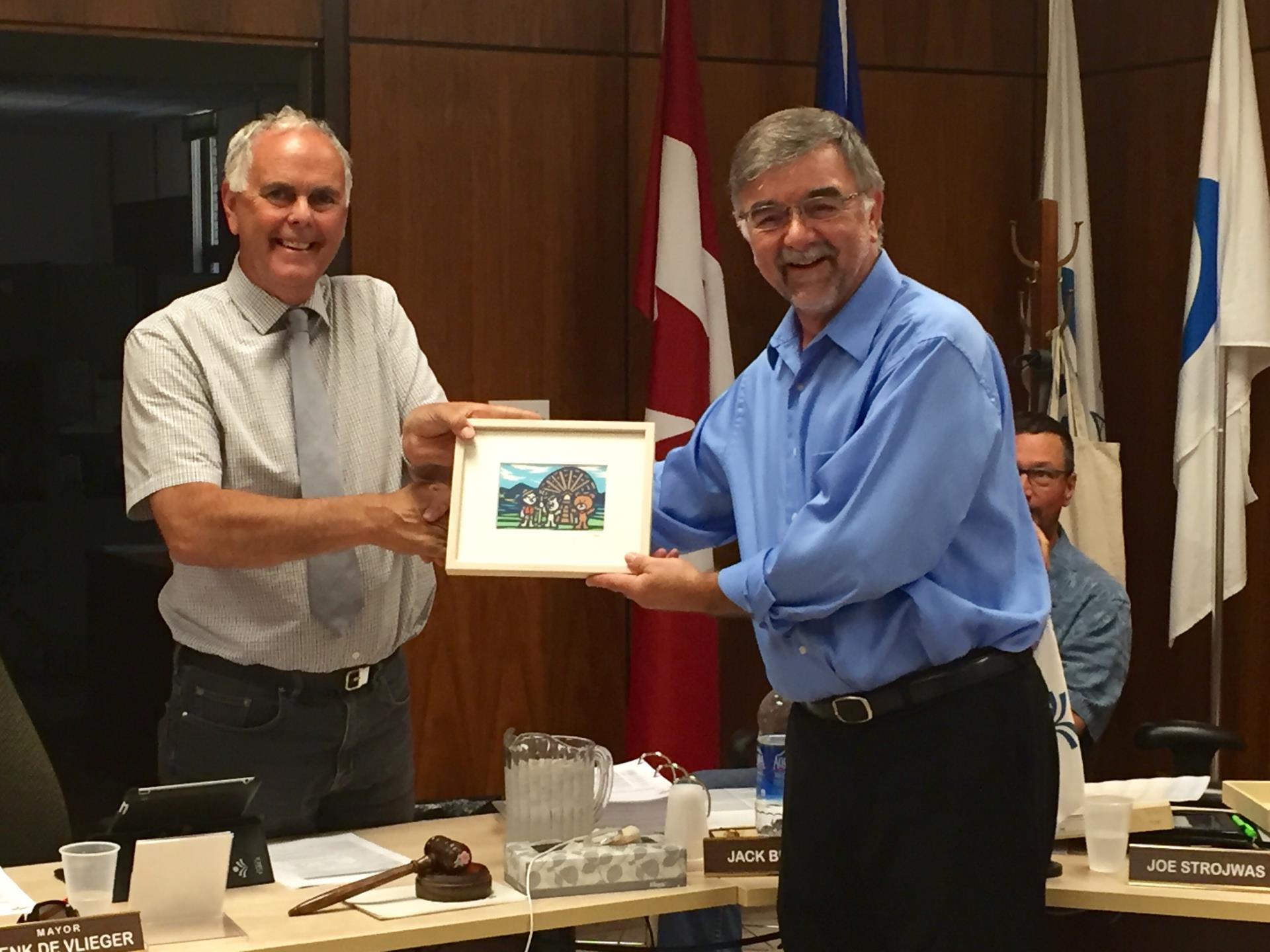Higashiomi Gift Presented to the Town of Taber
