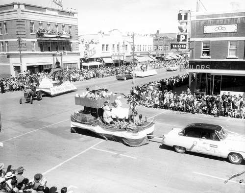 Taber Float Exhibition Parade c 1955