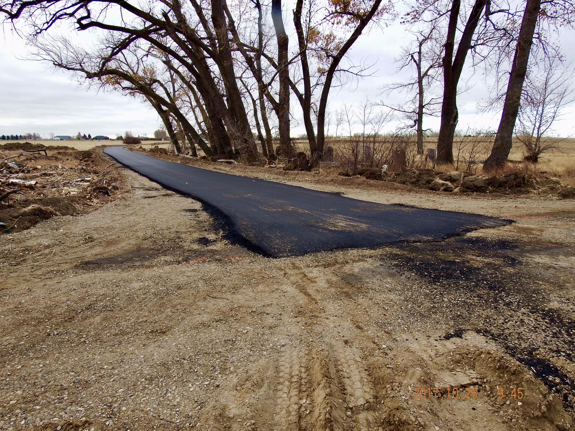 Paving Work on Walking Trails - October 2017