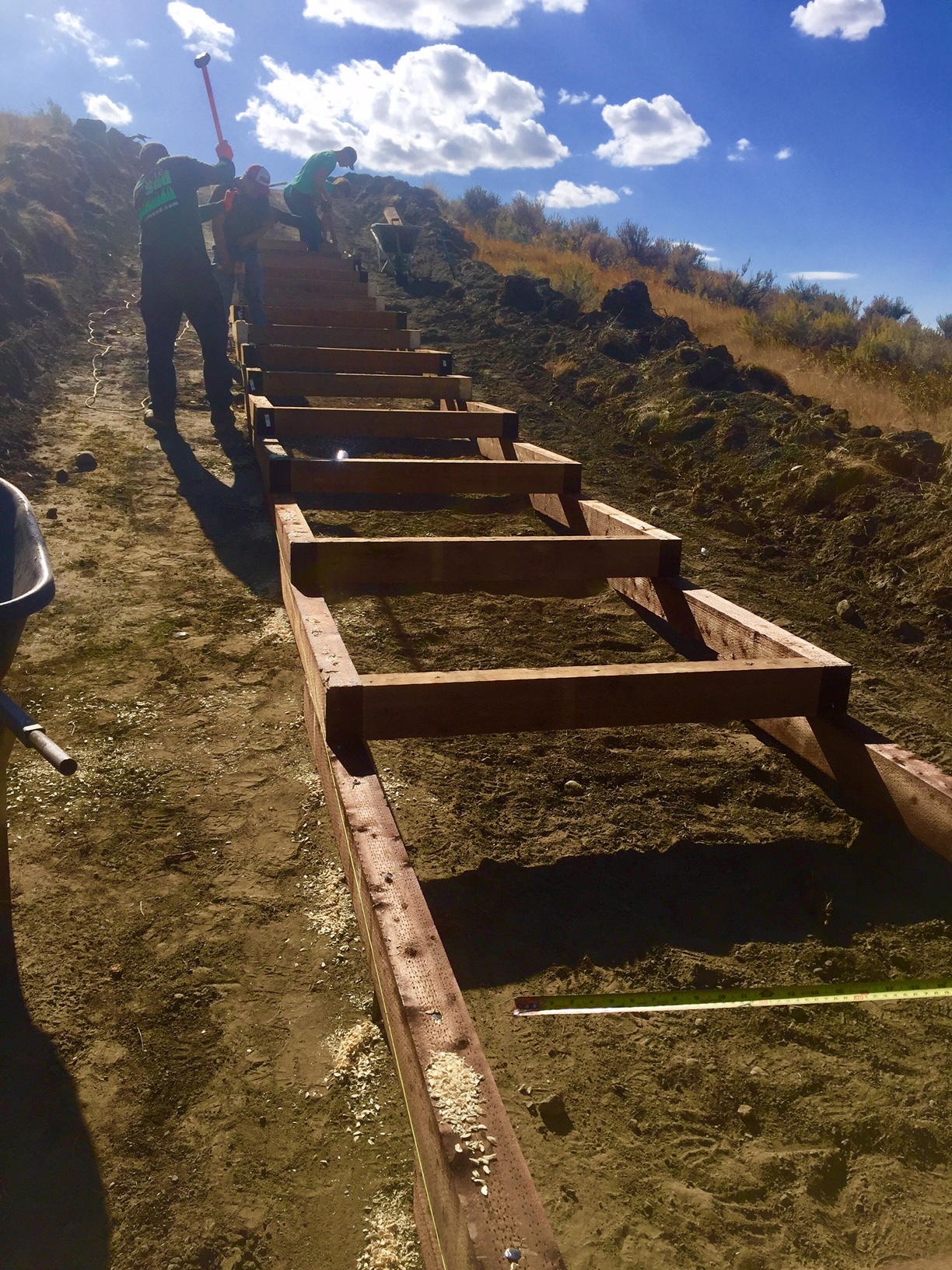 Trail Staircase Work - September 2017