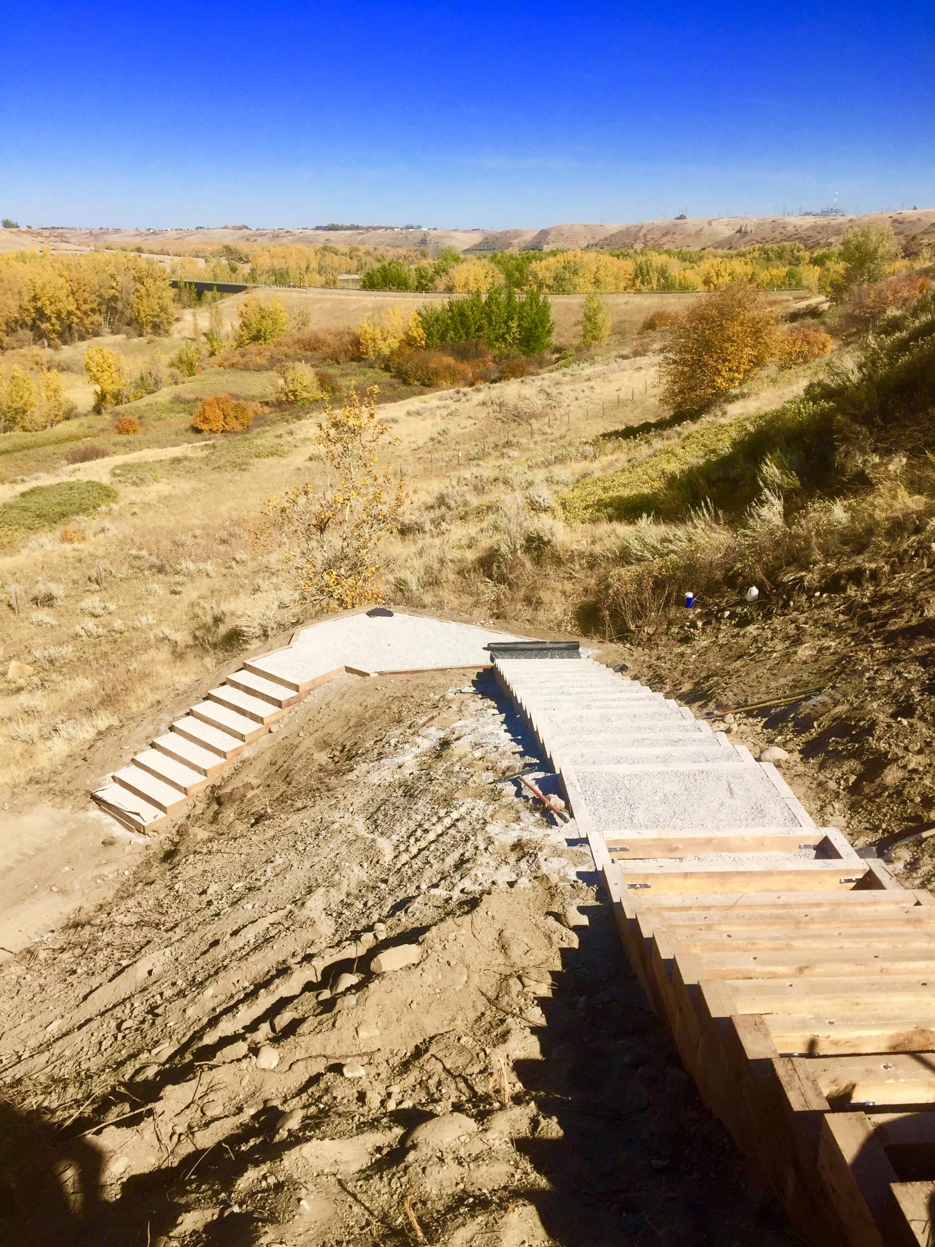 Walking Trail Stairs - September 2017