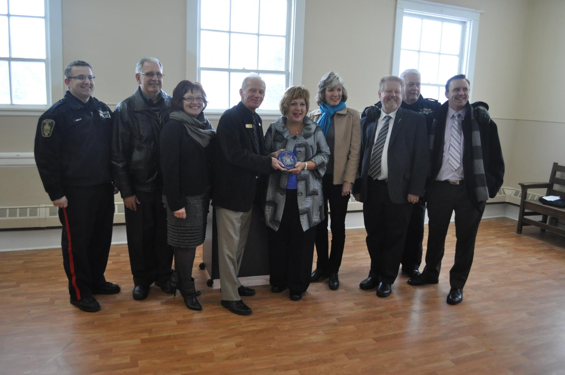 Courthouse Historic Designation with Minister Klimchuk and Various MLAs, Council and Staff