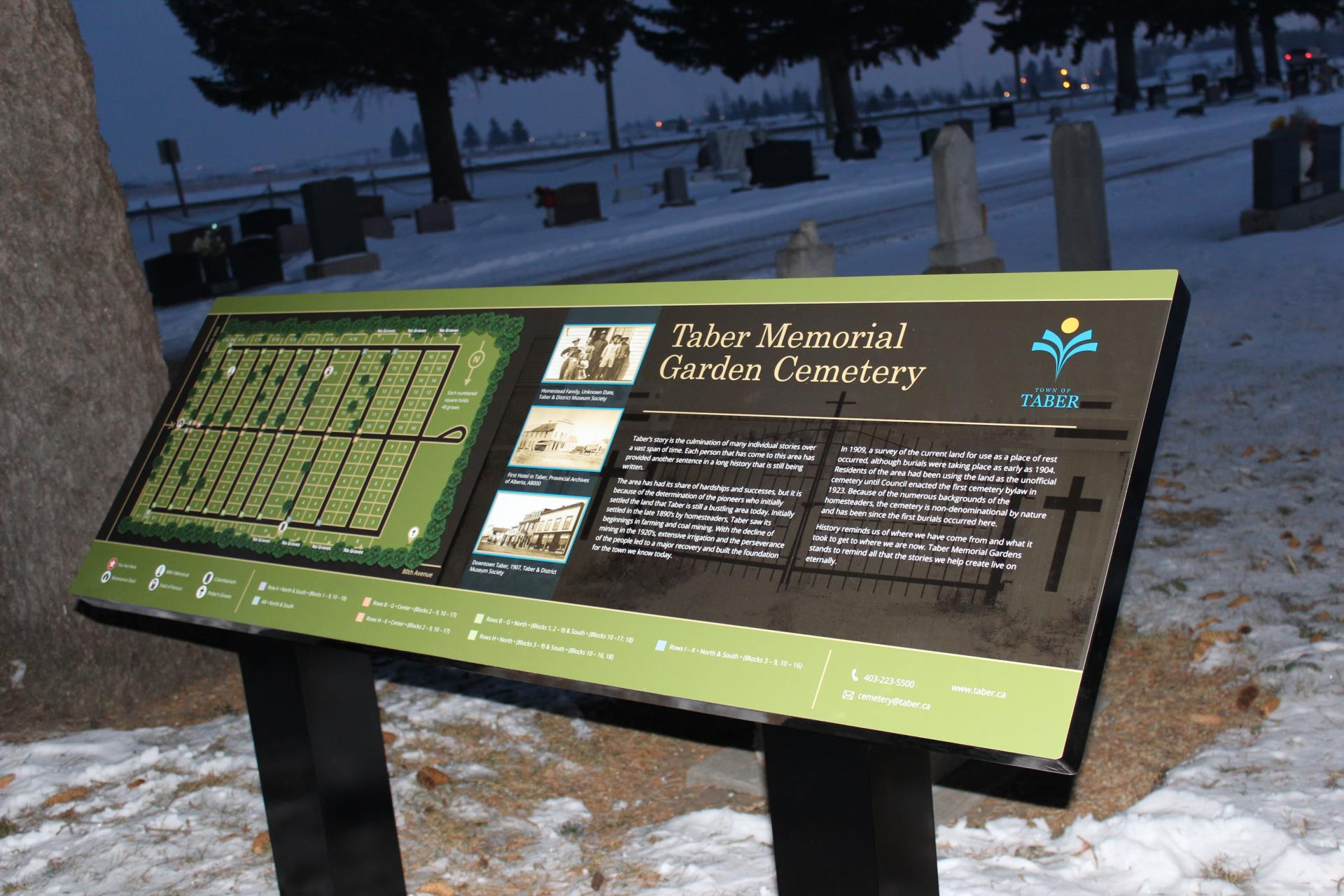 Our new map and row markers will help you find your way in the Memorial Gardens.