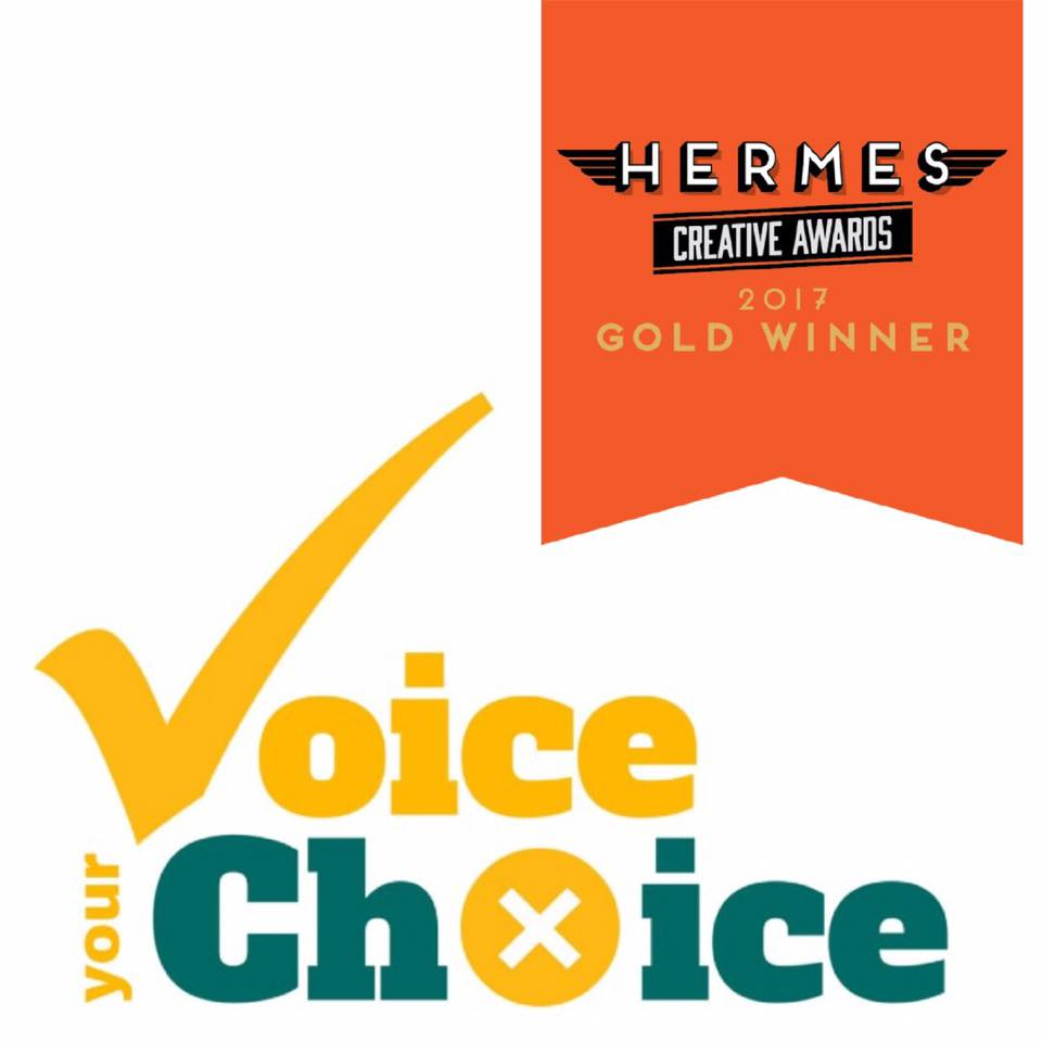 "Town of Taber Municipal Election Logo ""Voice Your Choice"""