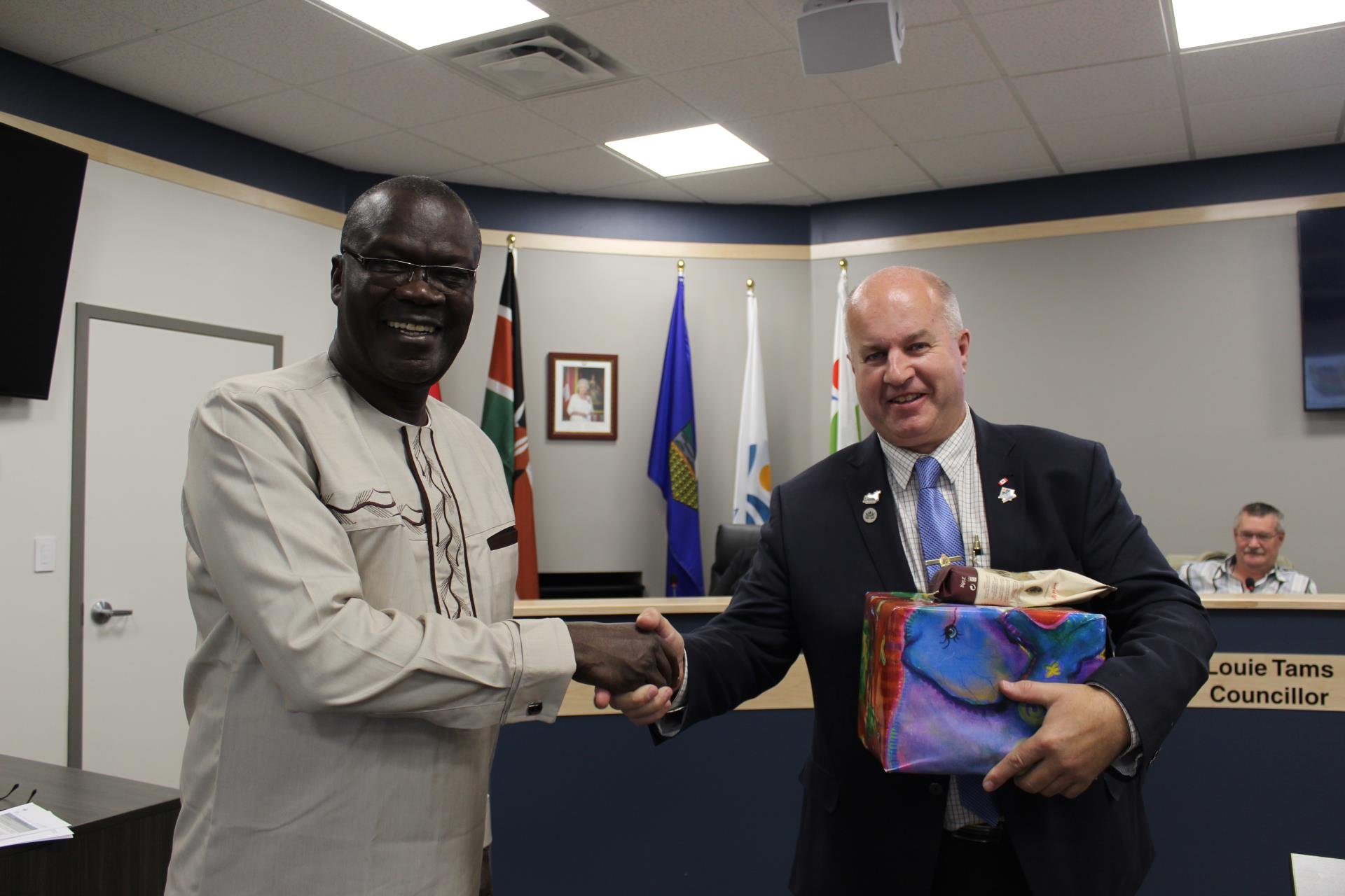 Mayor Prokop and Governor Cornel Rasanga