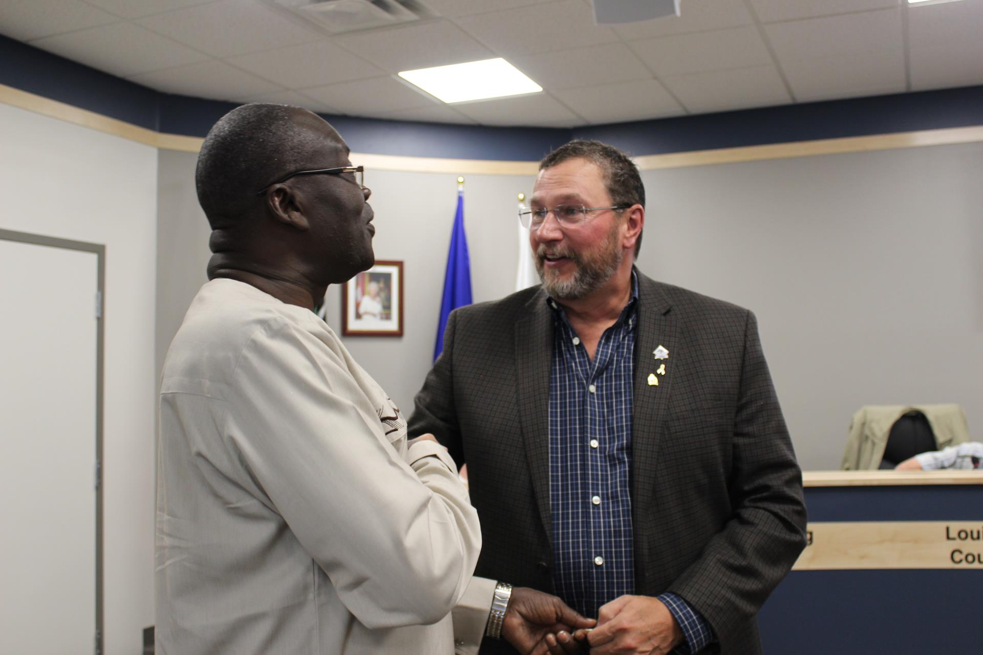 Councillor Brewin and Governor Cornel Rasanga