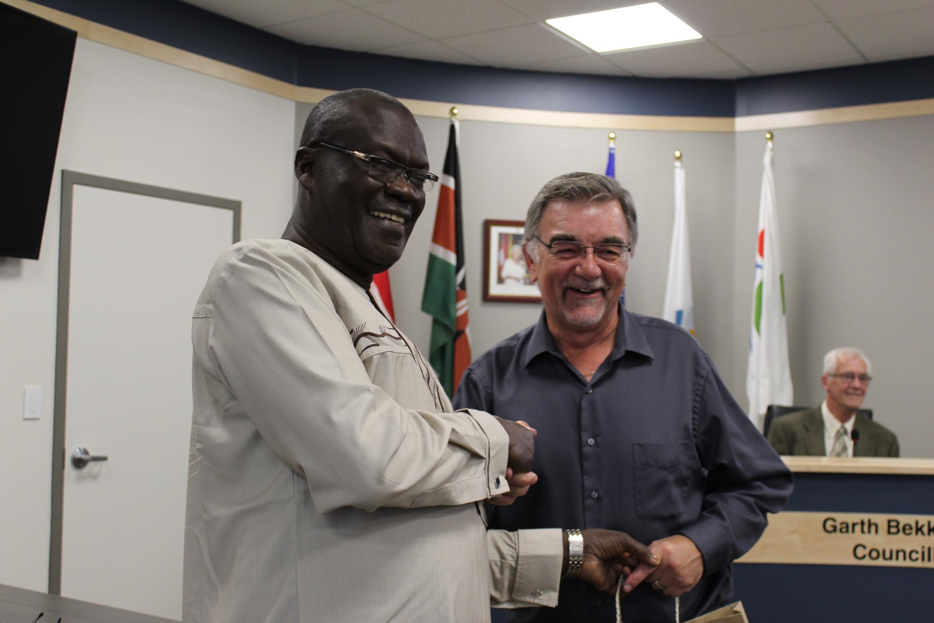 Councillor Strojwas and Governor Cornel Rasanga