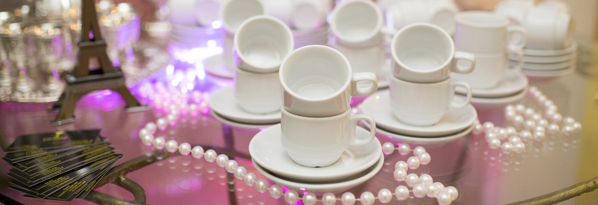 Tea cups at a party