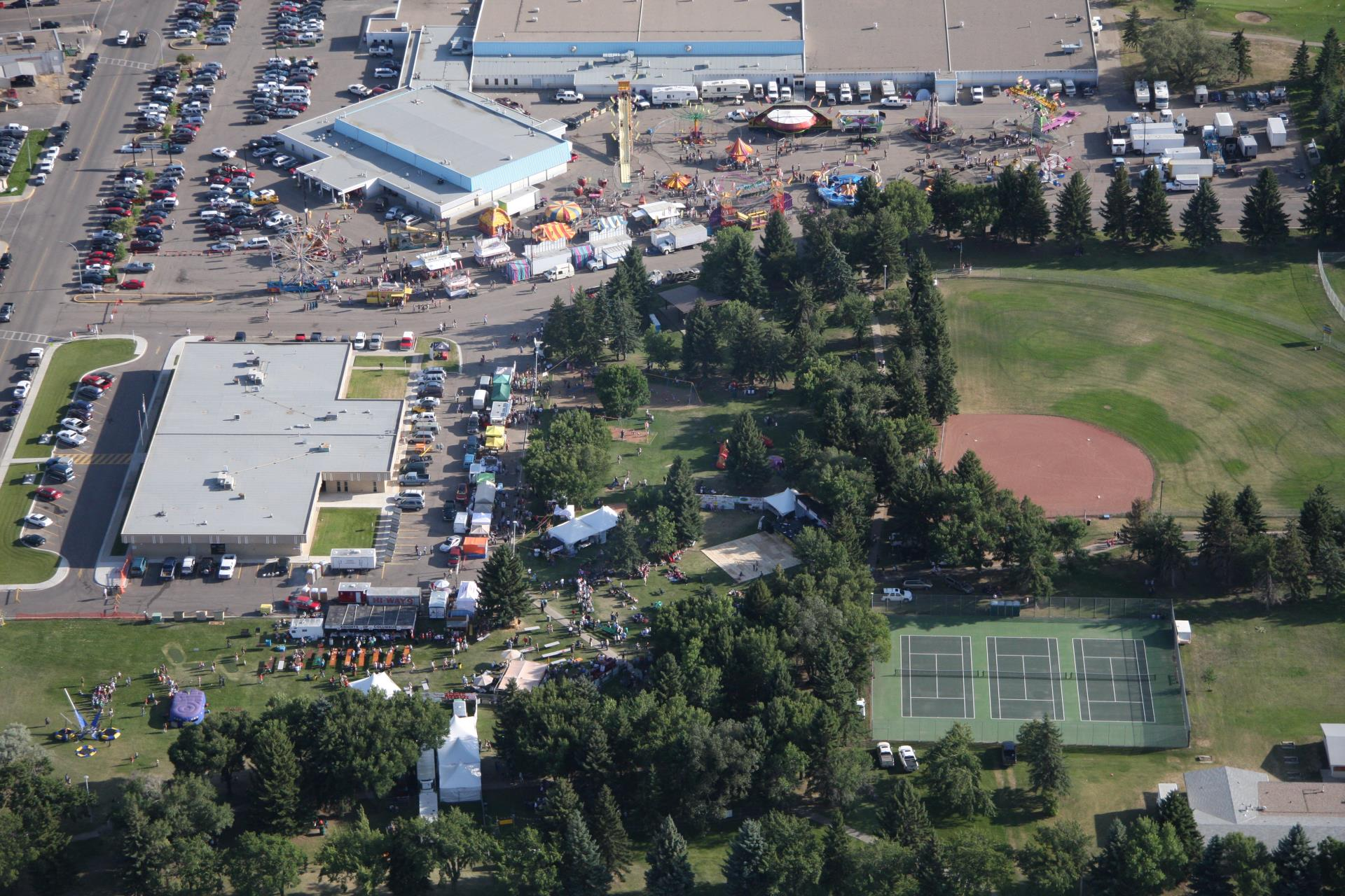 Aerial View of the Park and Midway 2009