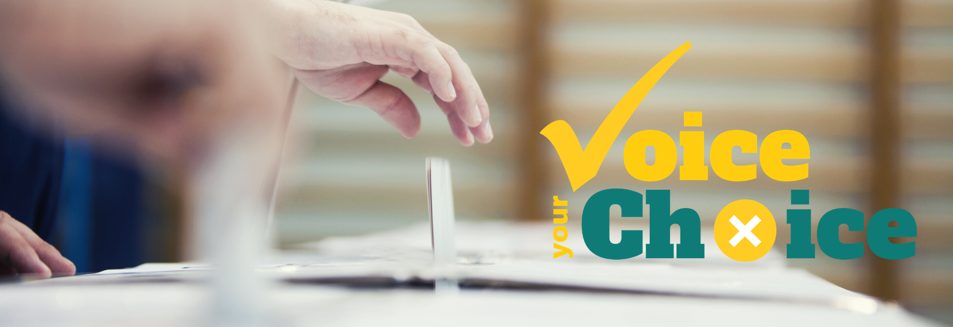 Ballot Box Voting with Election Logo- Header